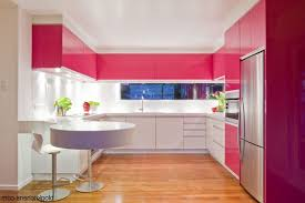 Contemporary Classic Theme Modern Pink Kitchen Sunken Cooking Area And Hood Unique Green Bar