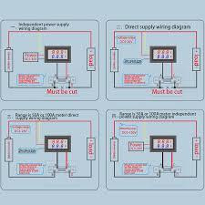 0 100v 50a red blue digital voltmeter ammeter 2in1 dc volt amp