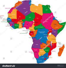 Mali Africa Map by Colorful Africa Map Countries Capital Cities Stock Vector 37197124