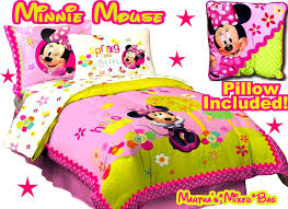 Full Size Bed In A Bag For Girls by Disney Minnie Mouse Girls Pink Full Double Size Licensed Comforter