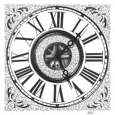 cool clock faces cool clock drawing clipartxtras
