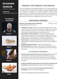 Sample Resume For Photographer Sample Resumes U2014 Career Story