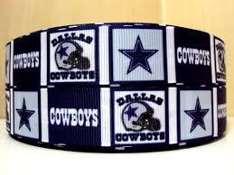 dallas cowboy ribbon cowboys 1 yd grosgrain ribbon 7 8 dallas cowboys college sports
