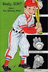 a sler of things neat 60 s baseball birthday cards