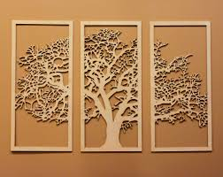 wall designs tree of wall tree of 3d 3 panel wall
