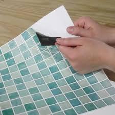 New Blue Glass Kitchen Bathroom Makeover Backsplash Peel Stick - Peel and stick backsplash glass tiles