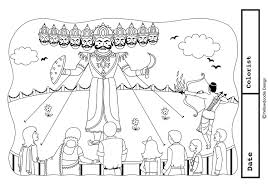 dushera coloring pages for adults coloring home