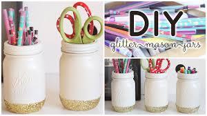 Pencil Holders For Desks by Diy Pencil Holders Glitter Mason Jars Youtube
