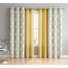 Yellow Window Curtains Yellow Grommet Curtains Drapes For Less Overstock