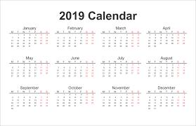 printable calendars free printable calendar 2019 yearly calendar download 2019 printable