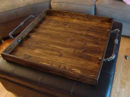 Ottoman Tray Industrial Style Ottoman Tray Rustic Ottoman Tray Wooden