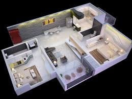 2 bedroom house 3d plans open floor plan including more