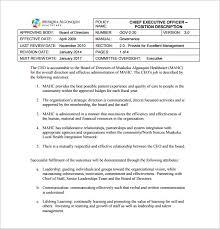 9 chief executive officer job description templates u2013 free sample