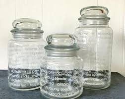 glass canister etsy