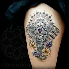 best 25 elephant thigh tattoo ideas on pinterest elephant