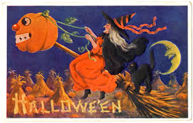 bloody pit of rod vintage halloween post cards