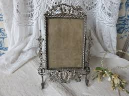 gorgeous vintage french silver plated picture frame paris chic