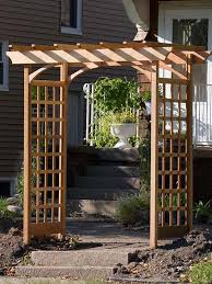 Build A Rose Trellis How To Build A Simple Garden Arbor Garden Arbours Arbors And