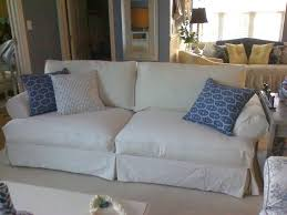 Sofa Covers White by Slipcovered Sofas Covers Decorate With White Slipcovered Sofas