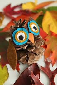 whimsy love diy pinecone owl u0026 hedgehog