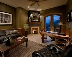 warm and cozy home office designs with fireplaces