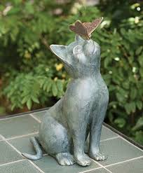best 25 cat statue ideas on garden statues