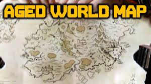 Cool Maps Of The World by Make A Cool Aged World Map Youtube