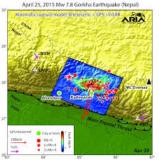 Nepal On Map Aria Project Maps Deformation Of Earth U0027s Surface From Nepal Quake