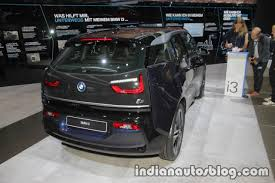 2018 bmw i3s rear three quarter right at iaa 2017 indian autos blog