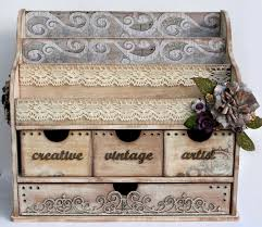 Vintage Desk Organizer Simply Renee Inc Vintage Desk Organizer