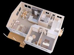 In Ground House Plans 25 More 2 Bedroom 3d Floor Plans