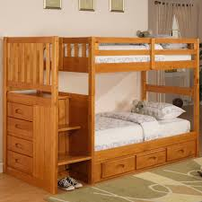 Viv Rae Kaitlyn Twin Over Twin Bunk Bed With Stairs  Reviews - Twin over twin bunk beds