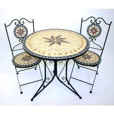Garden Bistro Table Garden Bistro Tables And Chairs Sandstone Mosaic Garden