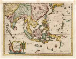 Map Of Western Asia by 1638 Map Of Southeast Asia China India The Philippines And