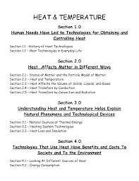 science 7 heat and temperature unit and lesson plans ninja plans