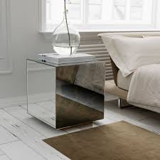 silver mirrored coffee table silver mirrored side table fashionable mirrored side table where