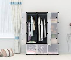 Clothes Cupboard Portable Clothes Closet Wardrobe By Kousi Freestanding Storage