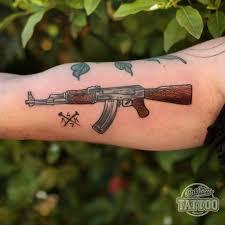 resultado de imagem para tattoo old ak 47 awesome