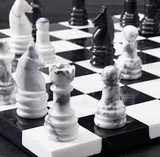 White Chess Set Marble Chess Set So That U0027s Cool