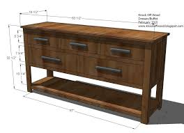 dresser with open shelves woodworking plans woodshop plans