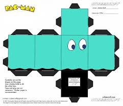 pacman paper toy pacman ghost paper toy pac man 6 pinterest