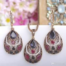 antique gold necklace images 2018 2018 new vintage women necklace earrings sets antique gold jpg