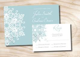 snowflake wedding invitations modern snowflake winter wedding invitation and response card
