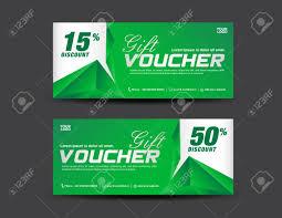 green gift voucher vector illustration green gift voucher template coupon design discount ticket