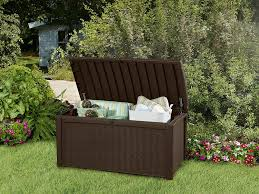Waterproof Patio Storage Bench by Amazon Com Keter Borneo 110 Gal Plastic Outdoor Patio Storage