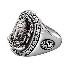 real silver rings images Metjakt vintage real 925 sterling silver ring hand carved jpg