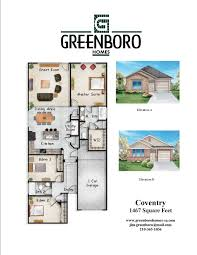 Coventry Homes Floor Plans by Floorplans Greenboro Homes San Antonio