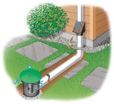 underground downspout diverter extension keeps roof water away