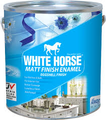 white horse paints