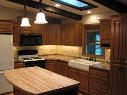 bi level kitchen designs 1970 u0027s split level kitchen remodel oak cabinets farm sink